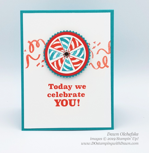 Pinwheel Card | Poppin' Birthday March 2019 Paper Pumpkin Kit ideas by Dawn Olchefske #stampinup #paperpumpkin #cardmaking #cardkit #rubberstamping #diy #PoppinBirthday