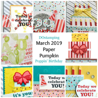 Poppin' Birthday, Mar 2019 Paper Pumpkin with DOstamping to receive a free alternate ideas tutorial PDF bonus each month.  Subscribe with Dawn Olchefske here:  http://bit.ly/DOstampingPaperPumpkin  #paperpumpkin #dostamping #stampinup #alternateideas