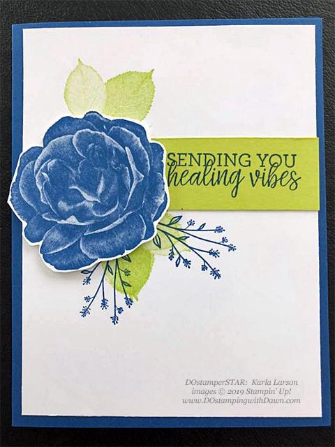 Healing Hugs - DOstamperSTARS Spring & Easter cards shared by Dawn Olchefske #dostamping #dostamperSTARSt #stampinup #handmade #cardmaking #stamping #papercrafting#eastercards - Karla Larson