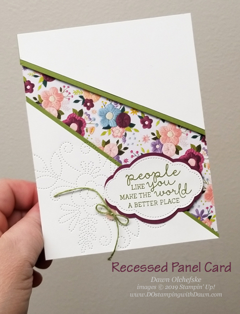Needlepoint Nook Suite Recessed Panel card created by Dawn Olchefske #dostamping #howdshedothat #stampinup #handmade #cardmaking #stamping #papercrafting #DOswts312
