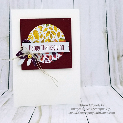 Aug 2019 Gift of Fall Paper Pumpkin Kit Alternative ideas from Dawn Olchefske #dostamping #paperpumpkin #stamping #cardmaking #papercrafting