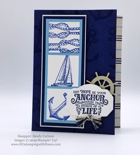 Stampin' Up! Sailing Home Bundle cards shared by Dawn Olchefske #dostamping  #stampinup #handmade #cardmaking #stamping #papercrafting #masculinecards (Sandy Carlson)