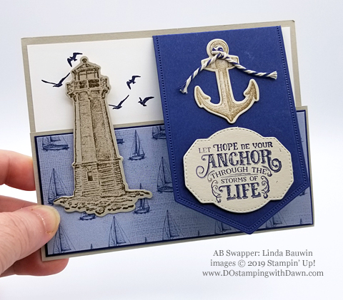 Stampin' Up! Sailing Home Bundle cards shared by Dawn Olchefske #dostamping  #stampinup #handmade #cardmaking #stamping #papercrafting #masculinecards (Linda Bauwin)