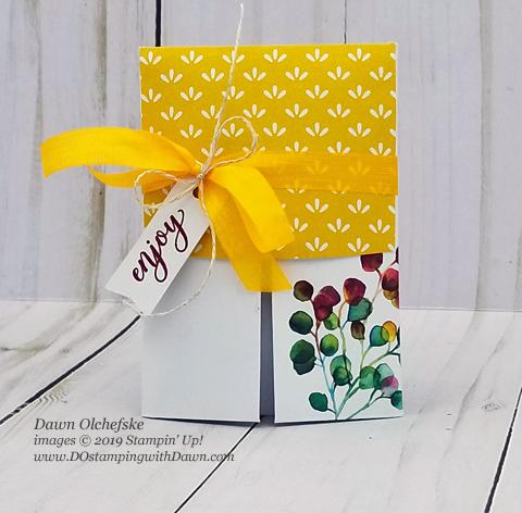 Paper Pumpkin August Gift of Fall Blop Hop | Dawn Olchefske dostamping #stampinup #handmade #cardmaking #stamping #diy #papercrafting #paperpumpkin #treatholder
