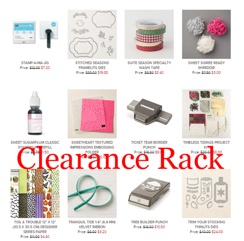 April 2019 Stampin' Up! Clearance Rack Refresh #dostamping #clearancerack #stampinup #bargainsgalore