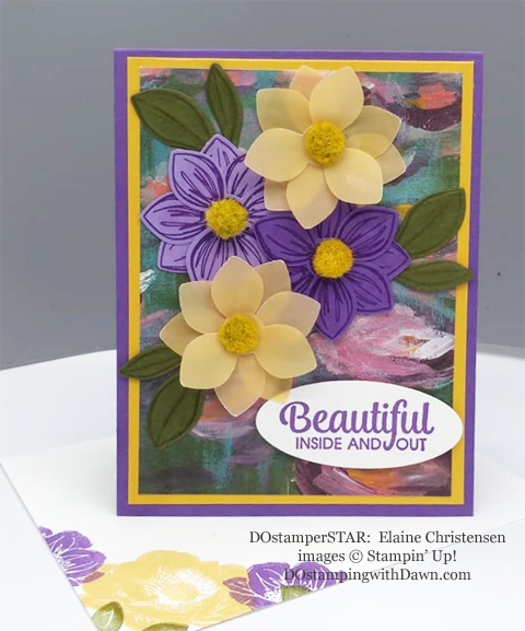 Stampin' Up! Designer Series Paper Sale featuring Perennial Essence Designer Series Paper shared by Dawn Olchefske #dostamping #stampinup #papercrafting (Elaine Christensen)