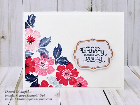 Stampin' Up!  Everything is Rosy Product Medley cards from by Dawn Olchefske #dostamping #howdshedothat #stampinup #handmade #cardmaking #stamping #papercrafting  #everythingisrosy #productmedley #birthdaycard