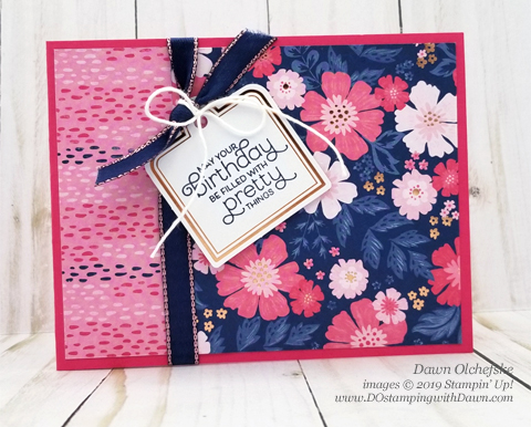 4 Flip It cards made with the Everything is Rosy Product Medley kit (available May 2019 only) shared by Dawn Olchefske #dostamping #howdshedothat #stampinup #cardmaking #papercrafting #everythingisrosy #flipitcards