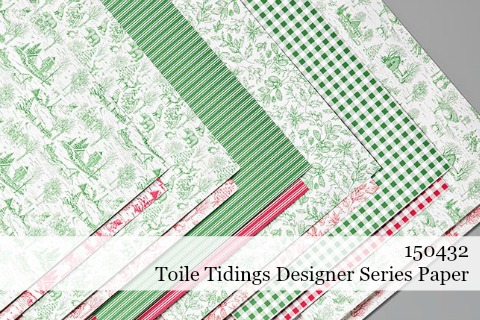 Toile Tidings Designer Series Paper from Stampin' Up!  - Holiday Catalog 2019 #dostamping #stampinup #papercrafting #cardmaking #christmascards