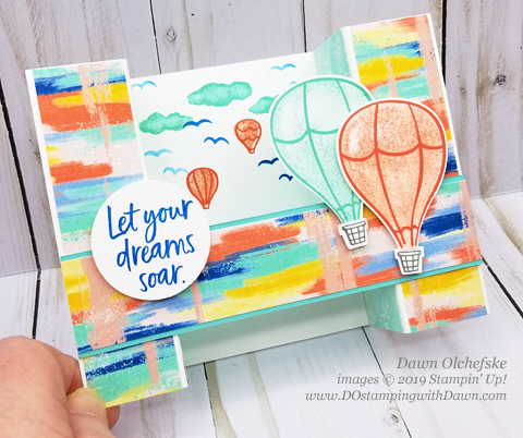 Bridge Fun Fold card using Stampin' Up! Above the Clouds Bundle.  Card by Dawn Olchefske for Stamping with the Stars #DOswts316 #dostamping #stampinup #handmade #cardmaking #stamping #papercrafting, #funfold