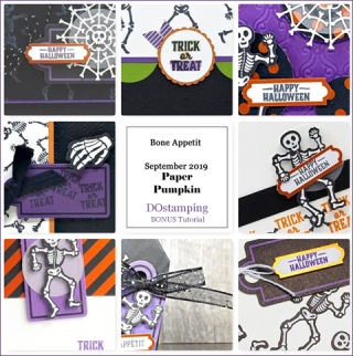 Bone Appetit, September 2019 Paper Pumpkin with DOstamping to receive a free alternate ideas tutorial PDF bonus each month.  Subscribe with Dawn Olchefske here:  http://bit.ly/DOstampingPaperPumpkin  #paperpumpkin #dostamping #stampinup #alternativeideas