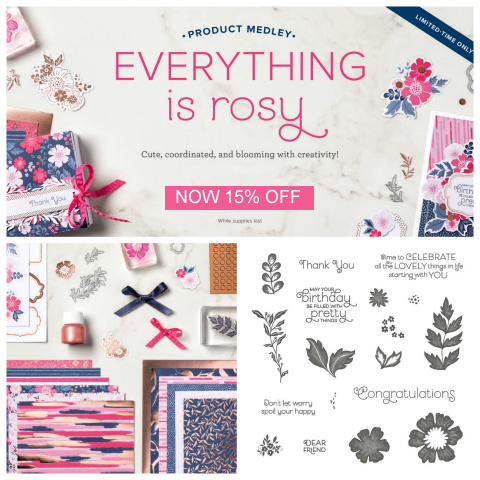 15% Off Everything is Rosy Product Medley, shop: http://bit.ly/ShopEverthingisRosy #dostamping #howdshedothat #stampinup #handmade #stamping #papercrafting#productmedley