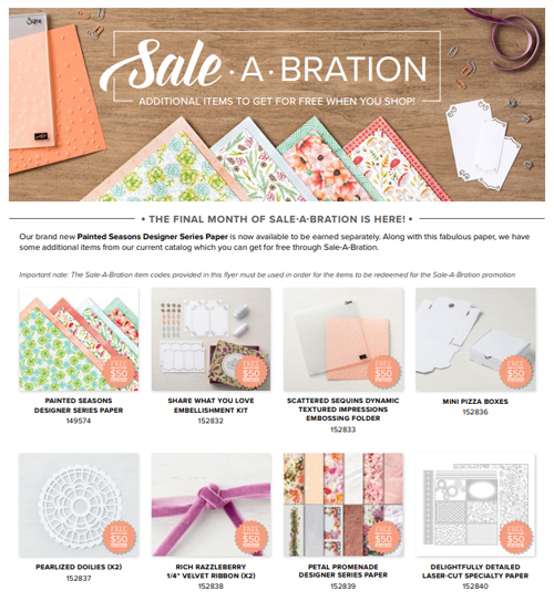 3rd Release Sale-a-Bration 2019 - even more free items to choose from #dostamping #stampinup http://bit.ly/shopwithdawn
