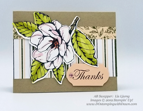 6 stunning Morning Magnolia samples - Magnolia Lane Suite from Stampin' Up! shared by Dawn Olchefske  #dostamping #stampinup #handmade #cardmaking #stamping #papercrafting  #morningmagnolia (Lis Ljung)