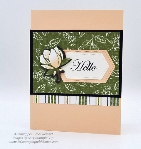 6 stunning Morning Magnolia samples - Magnolia Lane Suite from Stampin' Up! shared by Dawn Olchefske  #dostamping #stampinup #handmade #cardmaking #stamping #papercrafting  #morningmagnolia (Jodi Reinert)