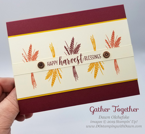 Easy Stampin' Up! Gather Together card shared by Dawn Olchefske #dostamping #howdshedothat #stampinup #handmade #cardmaking #stamping #papercrafting  #thanksgiving