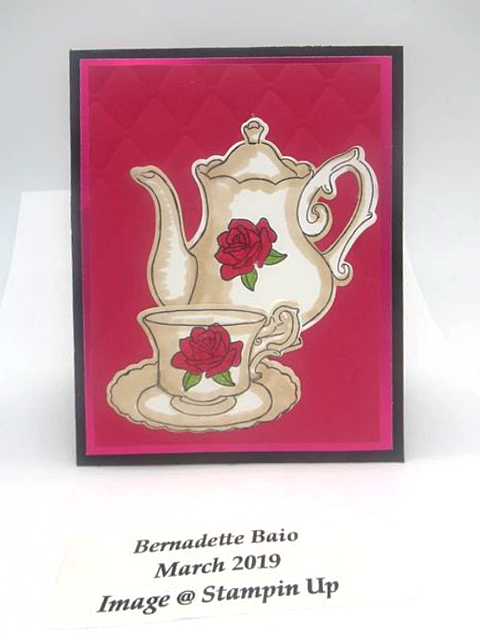 DOstamperSTARS share their creations!   #dostamping  #stampinup #handmade #cardmaking #stamping #papercrafting #DOstamperSTARS (Bernadette Baio - Tea  Together)