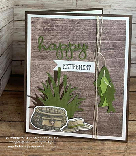 DOstamperSTARS share their creations!   #dostamping  #stampinup #handmade #cardmaking #stamping #papercrafting #DOstamperSTARS (Meghann Nelson - Best Catch)