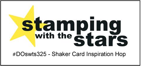 #DOswts325 | Stamping with the STARS Shaker card inspiration hop #DOstamperSTARS #dostamperSTARS #christmascards