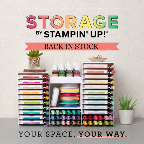 Storage by Stampin' Up! #dostamping #stampinup #craftroom #storage