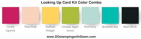 Looking Up Card Kit Color Combo #dostamping #stampinup #colorcombo