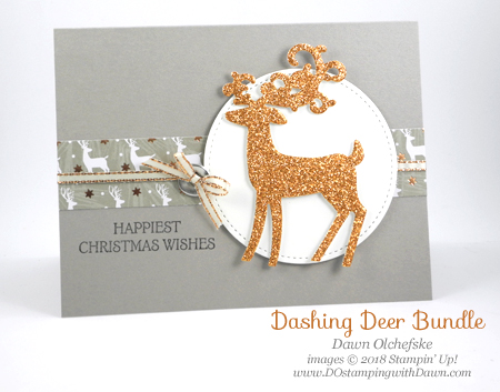 Stampin' Up! Dashing Deer card created by Dawn Olchefske #dostamping #stampinup #cardmaking #stamping #handmade #papercrafting