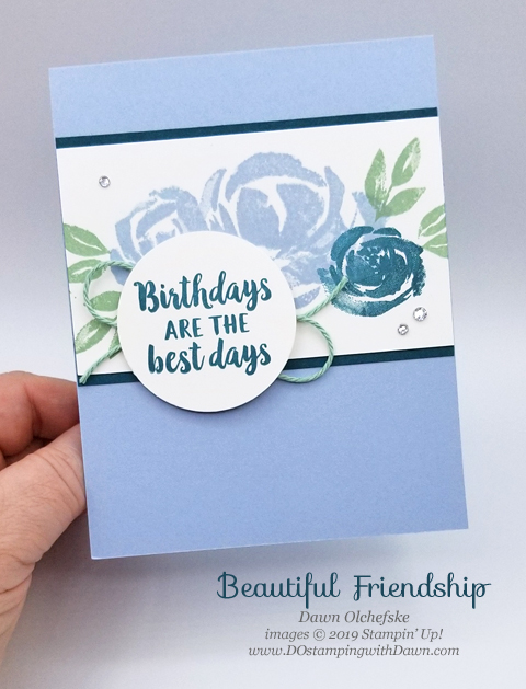 Stampin' Up! Beautiful Friendship card created by Dawn Olchefske #dostamping #stampinup #cardmaking #stamping #handmade #papercrafting