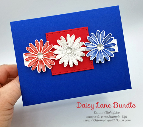Patriot Daisy Lane (from Stampin' Up!) card by Dawn Olchefske #dostamping #howdshedothat #stampinup #handmade #cardmaking #stamping #papercrafting #daisylane