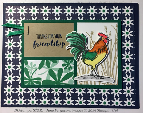 Stampin' Up! Sale-A-Bration Home to Roost card shared by Dawn Olchefske #dostamping #howdshedothat #stampinup #handmade #cardmaking #stamping #papercrafting (June Ferguson)
