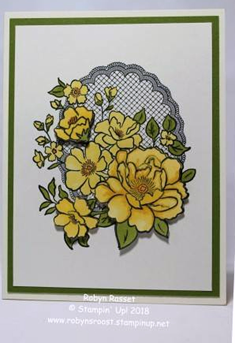 Stampin' Up! Sale-A-Bration Lovely Lattice card shared by Dawn Olchefske #dostamping #howdshedothat #stampinup #handmade #cardmaking #stamping #papercrafting (Robyn Rasset)