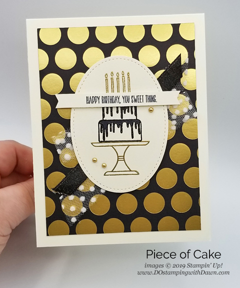 Stampin' Up! Piece of Cake Bundle card shared by Dawn Olchefske #dostamping #howdshedothat #stampinup #handmade #cardmaking #stamping #papercrafting #birthdaycards