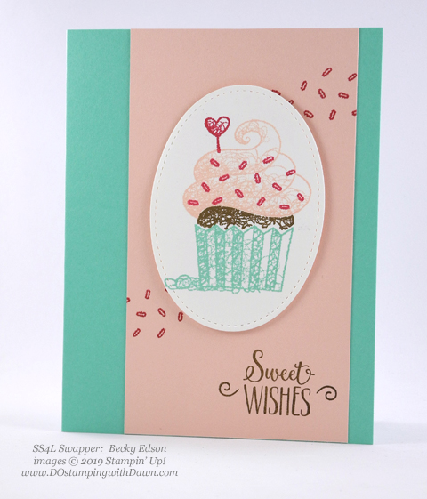 Sale-a-Bration Hello Cupcakes shared by Dawn Olchefske #dostamping #stampinup #handmade #cardmaking #stamping #papercrafting #hellocupcake #birthdaycards-BeckyEdson