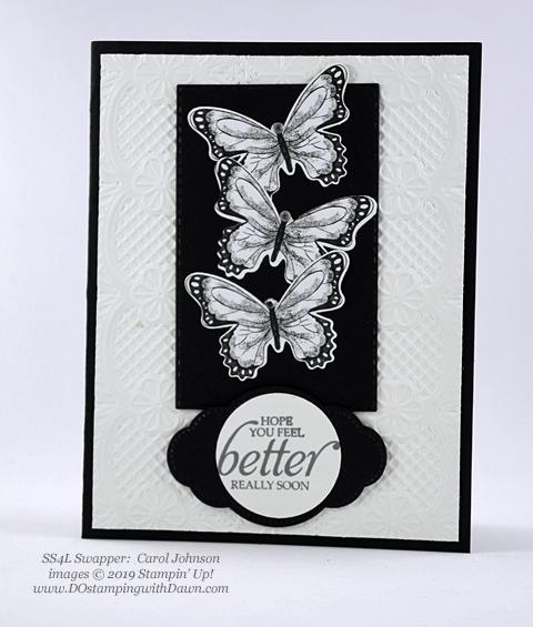 Stampin' Up! Botanical Butterfly Designer Series Paper shared by Dawn Olchefske #dostamping #howdshedothat #stampinup #handmade #cardmaking #stamping #papercraftingSS4L-CarolJohnson