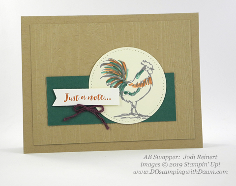 Stampin' Up! Home to Roost shared by Dawn Olchefske #dostamping #howdshedothat #stampinup #handmade #cardmaking #stamping #papercrafting (Jodi Reinert)
