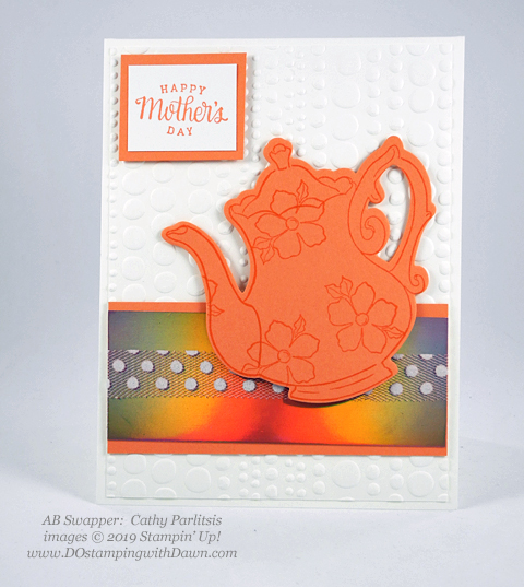 Stampin' Up! Tea Together stamp set and coordinating Sale-a-Bration Tea Time Framelit Dies shared by Dawn Olchefske #dostamping #howdshedothat #stampinup #handmade #cardmaking #stamping #papercrafting (Cathy Parlitsis)