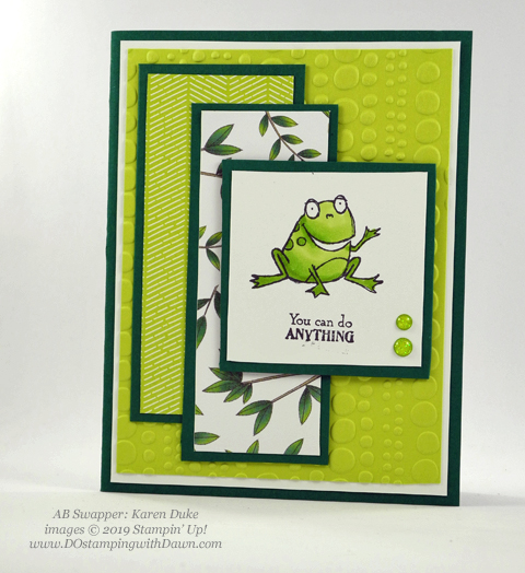 Stampin' Up! So Hoppy Together stamp set shared by Dawn Olchefske #dostamping #howdshedothat #stampinup #handmade #cardmaking #stamping #papercrafting (Karen Duke)
