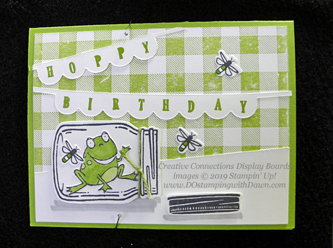 Stampin' Up! So Hoppy Together stamp set shared by Dawn Olchefske #dostamping #howdshedothat #stampinup #handmade #cardmaking #stamping #papercrafting (Creative Connection Display Board)