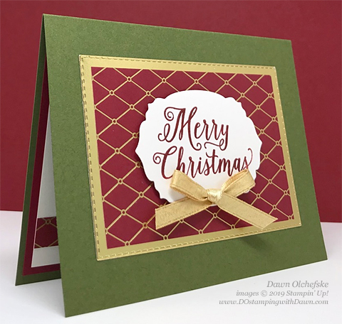 Quick & Cute Christmas Rose Bundle from Stampin' Up!, card shared by Dawn Olchefske #dostamping #howdshedothat #stampinup #handmade #cardmaking #stamping #papercrafting  #ChristmastimeisHere