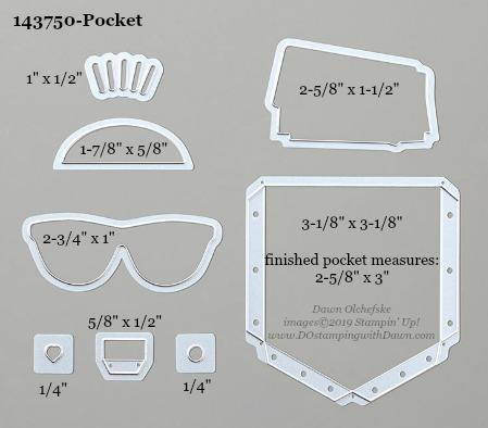 Stampin' Up! Pocket Dies sizes shared by Dawn Olchefske #dostamping #stampinup #papercrafting #diecutting #stampindies