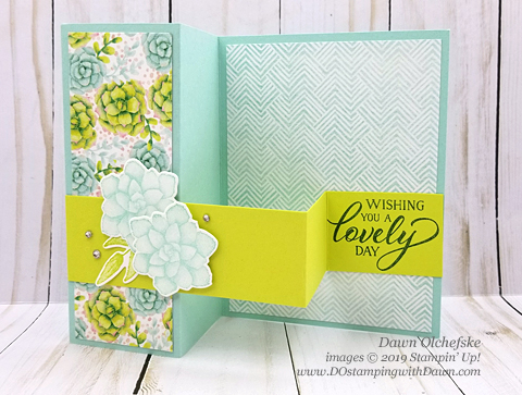 Sale-a-Bration Painted Seaons samples product shared by Dawn Olchefske #dostamping #howdshedothat #stampinup #handmade #cardmaking #stamping #papercrafting #paintedseasons #doubleZfold