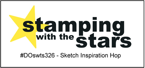 #DOswts326 | Stamping with the STARS Sketch inspiration hop #DOstamperSTARS #dostamperSTARS #christmascards