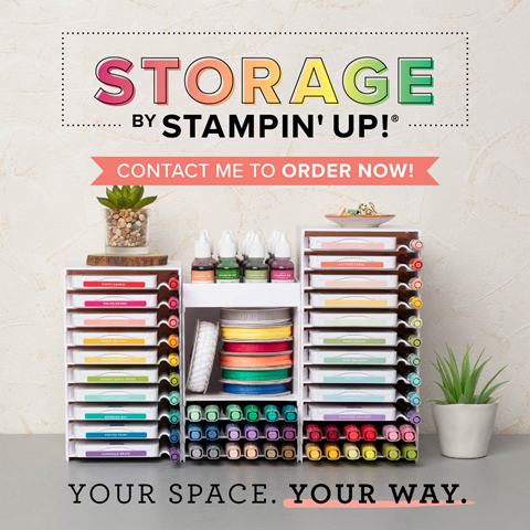 NEW Storage by Stampin' Up! #dostamping #stampinup #craftroom #storage