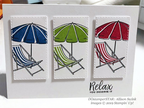 Beach Happy - DOstamperSTARS Spring & Easter cards shared by Dawn Olchefske #dostamping #dostamperSTARSt #stampinup #handmade #cardmaking #stamping #papercrafting #eastercards - AllisonSwink