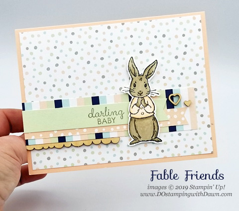 Stampin' Up! Fable Friends cards shared by Dawn Olchefske #dostamping #howdshedothat #stampinup #handmade #cardmaking #stamping #papercrafting#babycards
