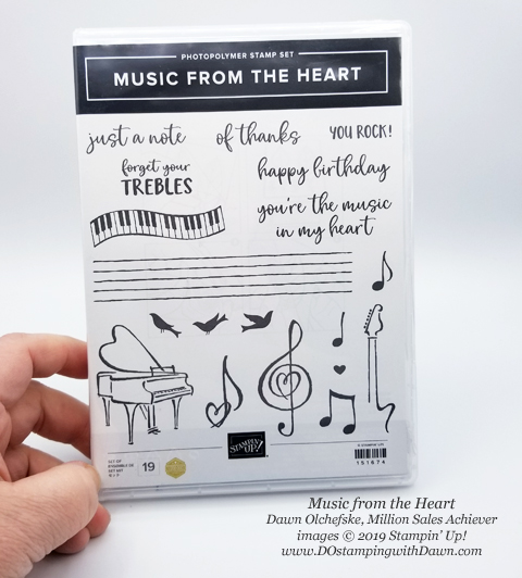 """Music from the Heart"" samples by Dawn Olchefske, Stampin' Up! Million Sales Achiever  - coming Jan 3, 2020 #dostamping #howdshedothat #stampinup #handmade #cardmaking #stamping #papercrafting #OnStage2019 #millionsalesachiever"