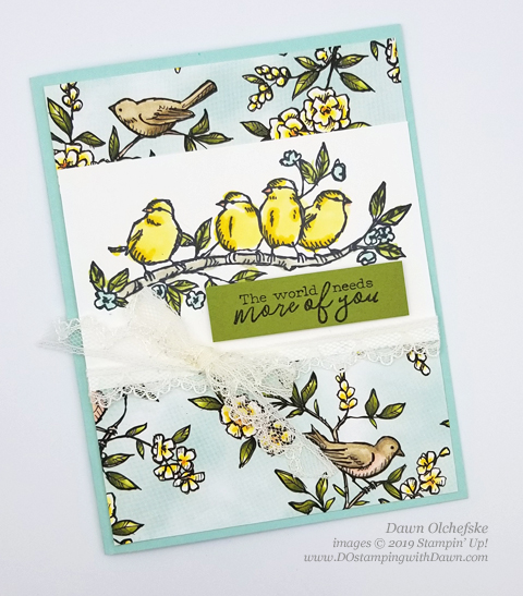 Bird Ballad Suite Make & Take from OnStage, shared by Dawn Olchefske #dostamping #stampinup #cardmaking #stamping #papercrafting  #ONSTAGE2019 #minneapolisonstage2019