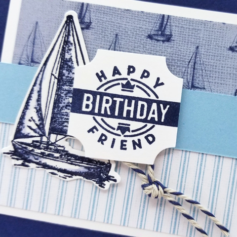 Stampin' Up! Sailing Home Bundle card by Dawn Olchefske #dostamping #howdshedothat #stampinup #handmade #cardmaking #stamping #papercrafting  #birthdaycards #masculinecards