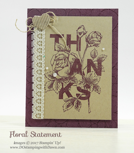 Floral Statement stamp set Stampin' Up! Last chance list, retired items going fast.  #dostamping #retired list #stampinup  , Shop here while supplies last: https://www.stampinup.com/ecweb/category/100600/last-chance-products?dbwsdemoid=61500