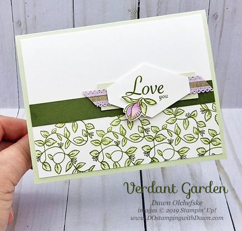 Stampin' Up! Verdant Garden card by Dawn Olchefske #dostamping #howdshedothat #stampinup #handmade #cardmaking #stamping #papercrafting#love