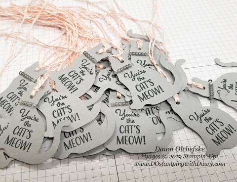 Nine Lives Gift Box Tags created by Dawn Olchefske #dostamping #howdshedothat #stampinup #handmade #giftboxes #ONSTAGE2019 #minneapolisonstage2019 #dostamperSTARS